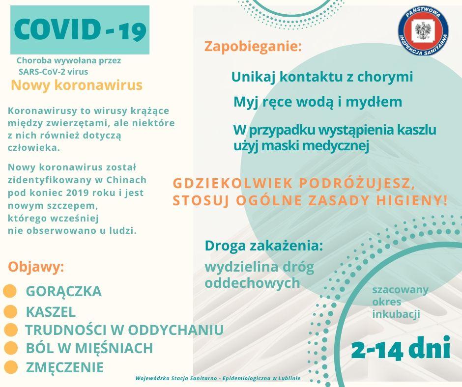 Covid19 - zapobieganie, objawy