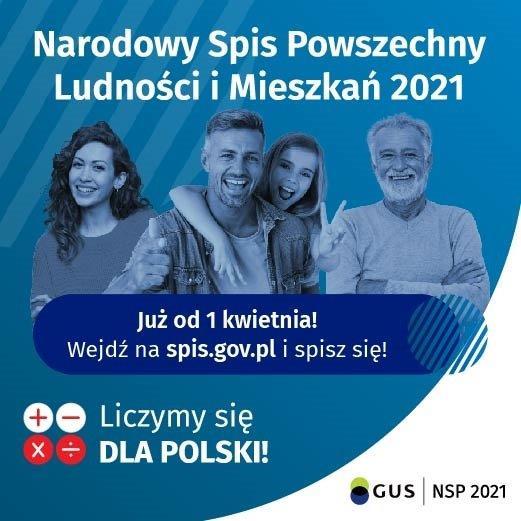 Ogłoszenie o Narodowym Spisie Ludności w 2021r.