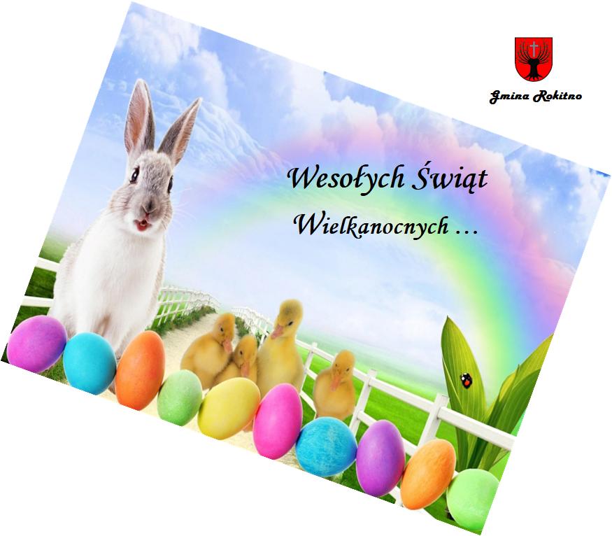 """Kartka Świąteczna - Życzenia Wielkanocne: """"Wesołych Świąt Wielkanocnych"""