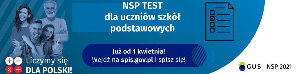 Narodowy Spis Powszechny 2021 - Test dla uczniów szkół podstawowych