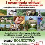 Plakat - Państwowa Szkoła Wyższa w Białej Podlaskiej informuje o studiach na kierunku Rolnictwo - uzyskaj tytuł inżyniera i uprawnienia rolnicze