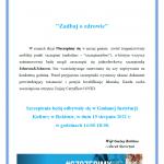 """""""Zadbaj o zdrowie"""" - Szczepienia przeciw COVID 19"""