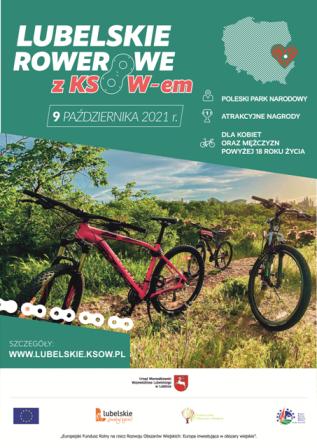 Plakat Lubelskie rowerowe zKSOW-em - 9 oaździernika 2021